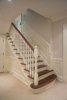 treppenrenovierung mit laminatstufen stufendekor eiche vintage alte treppe neu gestalten. Black Bedroom Furniture Sets. Home Design Ideas