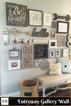 GALLERY WALL IDEA – ENTRYWAY GALLERY WALL IDEAS + DOWNLOAD PRINTS – HOW TO #RealEstate #HomeDecorIdeas