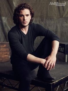 Kit Harington is so pretty - have a thing for dark curly hair these days....
