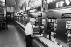 Coffee at one of the last Horn & Hardart Automats. Photo taken June 8th, 1987. (via AP)