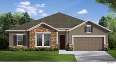 The Aronwood - F Exterior Facade House, Home Builders, House Plans, Cool Designs, Shed, New Homes, Floor Plans, Farmhouse, Exterior