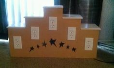 scentsy display idea.....this one is perfect....I would probably paint it purple and do white stars:))