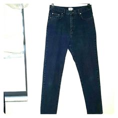 "Calvin Klein Jeans Hi-rise Straight Leg Medium dark wash Calvin Klein jeans. 5 pocket styling. On trend Hi-rise. Straight leg. Measures 15"" across at the waist, lying flat. Measures 41"" from waist to hem. Calvin Klein Jeans Straight Leg"