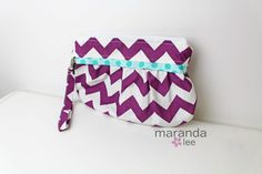 Christmas Gift wishes -READY to SHIP  Coco Medium Zippered Clutch  Plum by marandalee,