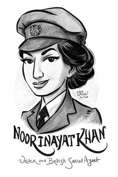 100 Days, 100 Women, Day Noor Inayat Khan, Indian royalty, was a writer and pacifist until the Nazis invaded France. As a member of British Secret Executive Operations. Khan worked as the only radio operator in occupied Paris for months until she. Rihanna, Beyonce, Osage Nation, Nellie Bly, Feminist Af, Colette, Lgbt, The Orator, Women Names