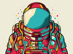 Astronaut by Van Orton Design Astronaut Wallpaper, Space Illustration, Astronaut Illustration, Dope Art, Illustrations And Posters, Vector Art, Graphic Art, Art Drawings, Character Design