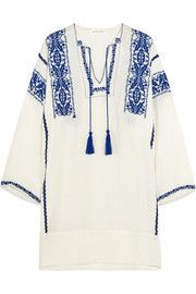Étoile Isabel Marant Vinny embroidered cotton-gauze mini dress