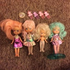 Set Of Hasbro Moon Dreamers Dolls 1980s With Accessories | 23