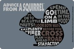 Advice from a Squirrel Outline Sticker Squirrel Art, Baby Squirrel, Gifts For Nature Lovers, Life Philosophy, True Nature, Squirrels, Outline, Advice, Stickers