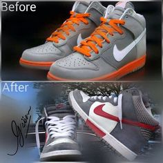 """Aquí con otro #kickmakeover Tráenos tu """"tenis"""", bota ó zapato y el próximo que #gsöm mostrar es el tuyo."""