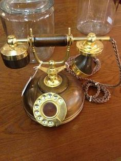 Vintage Circa 1969 Rotary Phone Gold Plated - Working - $59