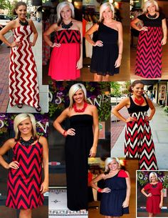 We've got spirit, yes we do!  Red and Black!  Go Georgia Bulldogs!  Available at 105 West Boutique in Abbeville, SC.  (864) 366-WEST.