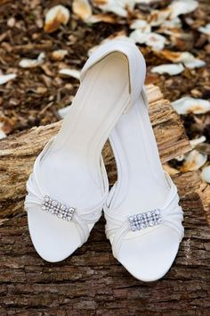 Delicate bridal shoes