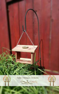Hanging Outdoor Redwood Bird feeder   https://www.etsy.com/listing/268596640/hanging-bird-feeder-outdoor-garden
