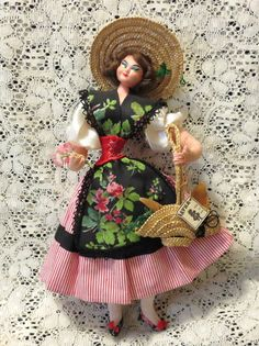 SOLD: Vintage Collectible Spanish Layna Doll from by BJsYesterday