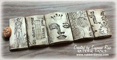 Stamped Clay Bracelet by Susanne for Rubber Dance Stamps