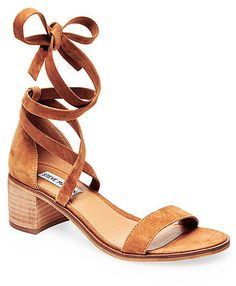 Both rustic and chic, the RIZZAA sandal can be dressed up or down. The soft suede upper gives a casual edge, while the silhouette shape and clean block heel elevate with sophistication. Straps cross in front of the ankle and wrap into a tied closure avoiding the need for a buckle. <ul> <li>Suede upper material</li> <li>Man-made lining</li> <li>Man-made sole</li> <li>2 inch heel height</li> </ul>