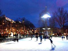 Ice skating in Oslo