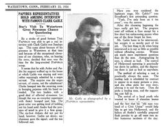 Hollywood Legend Clark Gable's 1934 Visit to Watertown, CT