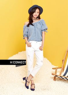 YoonA showed off her summer fashion with 'H:CONNECT'.She's the model for the clothing brand, and she showed off its summer line to showcase t… Snsd Fashion, Korean Fashion, Fashion Outfits, Yoona Snsd, Female Poses, Korean Celebrities, Girls Generation, South Korean Girls, Girl Crushes