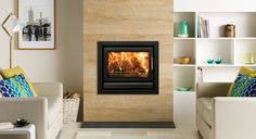 Riva 66 Wood Burning Inset Fires & Multi-fuel Inset Fires - Stovax