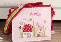 *Pilzhäuschen* Kindergarten- Rucksack/Tasche  von The Cute Owl auf DaWanda.com