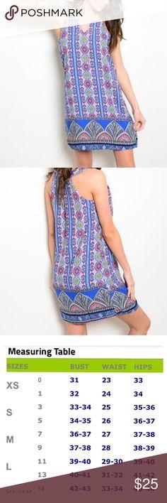 ⚡️Royal Blue & Pink Print Dress⚡️ Royal Blue & Pink Print Summer Dress   Lovey summer dress with lining.  Dress & Lining fabric: 100% Polyester Beach Wave Dresses