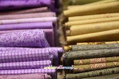 stoffe, stoffe gialle, stoffe viola, tessuti,