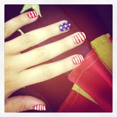 America nails! #nailart #america
