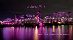 #LightItPink campaign 2015 http://colorkinetics.com/Breast-Cancer-Awareness/