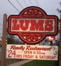 Lums. Hotdogs boiled in beer Syosset NY