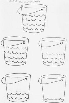 voorbereidend schrijven; water
