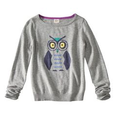 for Danielle - Mossimo Supply Co. Juniors Long Sleeve Owl Sweater - Gray
