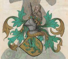 Armorial de la Table ronde.  Date d'édition :  1490-1500  Ms-4976  Folio 157r