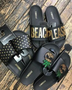"""0fe09bbc2e Ron Jon Surf Shop on Instagram  """"⭐ 🍍💛🖤 Beach Please! 🖤💛🍍⭐ Black and  Gold! These  thewhitebrand come in even more colors!"""