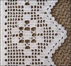 This Pin was discovered by Hul Crochet Baby Dress Pattern, Crochet Edging Patterns, Crochet Lace Edging, Crochet Motifs, Crochet Borders, Crochet Designs, Crochet Doilies, Knit Crochet, Crochet Crafts