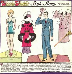 Winnie Winkle Paper Doll c. 1930s