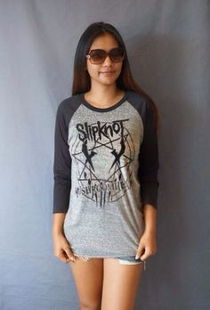 Slipknot Vintage Rock Punk Teed  t shirt Baseball by PetaThai