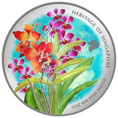 Grandeur of Orchid, Lyrics in Batik III (minted in 2009 by Singapore Mint)