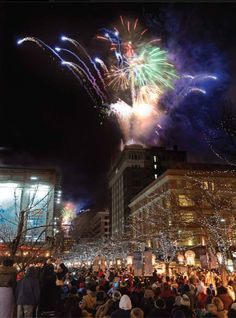 New Years Eve fireworks downtown at 9pm & midnight