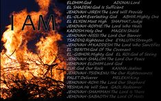 Power of God Scripture   The Names of God — POWERFUL MESSAGE !!