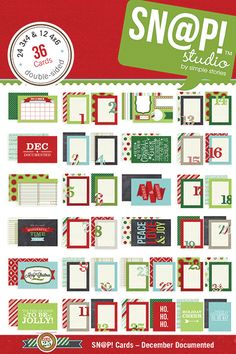 Simple Stories - SNAP Collection - Christmas - 4 x 6 Cards - December Documented at Scrapbook.com