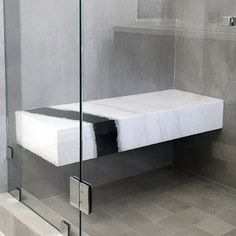 Modern shower bench modern shower stool best home renovation 2019 Bathroom Seat, Relaxing Bathroom, Natural Bathroom, Small Bathroom, Bathrooms, Shower Seat, Shower Tub, Shower Benches, Master Shower