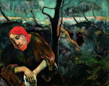 Paul Gauguin Le Christ au Jardin des oliviers, 1889 Huile sur toile - x cm West Palm Beach, Norton Museum of Art Photo : Didier Rykner Paul Gauguin, Art Gallery, National Gallery Of Art, Henri Matisse, Gustav Klimt, Agony In The Garden, Impressionist Artists, Post Impressionism, Illustration