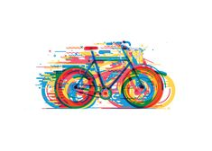 Bicicletas By Daniel Gonzalez Simple And Clean Graphic To Convey. Bicycle Tattoo, Bike Tattoos, Bicycle Art, Mtb Bicycle, Bicycle Illustration, Illustration Art, Daniel Gonzalez, Cycling Art, Design Graphique