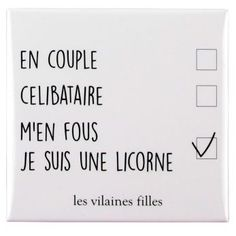 Magnet Je Suis Une Licorne – Les Vilaines Filles Deep Texts, Some Jokes, French Quotes, Survival Quotes, Funny Happy, Amazing Quotes, Mood Quotes, Word Art, Cool Words