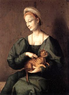 Francesco Bacchiacca  (1494-1557)  Woman with a Cat  1540