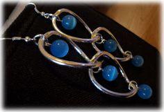 Silvia Jewellery of Style: Orecchini donna pendenti ad anelli con perle inter...