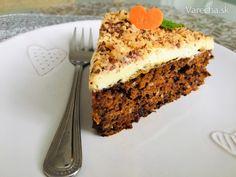 Carrot Cake with orange cream Dessert Recipes, Desserts, Carrot Cake, Tiramisu, Carrots, Mango, Cream, Ethnic Recipes, Food