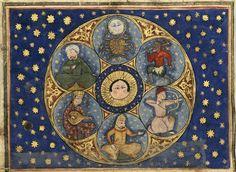 Planets from al-Qazwini, Wonders of Creation Source:ms 1130, Bibliothèque/Médiathèque, Bordeaux